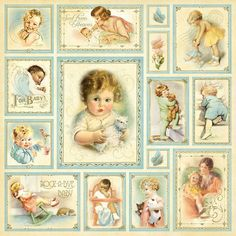 Vintage Babies Background