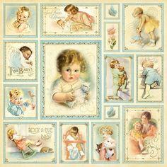 Vintage Babies Background