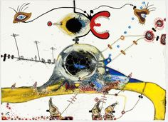 """""""two trajectories in philosophy spanking with an inkling of self"""" yellow painting by margaret withers, brooklyn, nyc"""