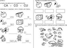 Atividades Sílabas com C ( Ca co Cu ) alfabetizando   Jet Dicas