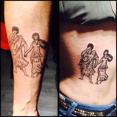Orpheus and Eurydice matching tattoos. Arcade Fire tattoo Hey Orpheus I'm behind you don't turn around I can find you Just wait until it's over