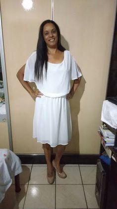 Moda Estilo 5.0 Conceição Loe Souza: Look de Chifom na cor Branca