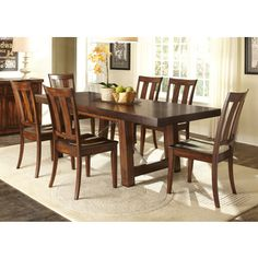 Tahoe Rustic Mahogany 7-piece Dinette Set | Overstock.com Shopping - Big Discounts on Dining Sets