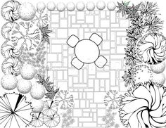 Garden Plan Black And White Stock Vector - Illustration of back, engineering: 18995738 Landscape Architecture Design, Landscape Plans, Planting Plan, Garden Planning, Royalty Free Stock Photos, Concept, How To Plan, Black And White, Illustration