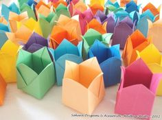 Origami for Everyone – From Beginner to Advanced – DIY Fan Origami Cards, Origami And Kirigami, Origami Paper Art, Diy Paper, Paper Crafts, Origami Ideas, Oragami, Origami Mouse, Origami Yoda