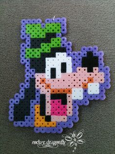 Goofy perler beads by ~RockerDragonfly on deviantART