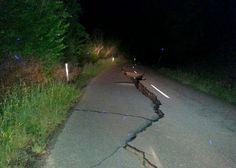 A large fissure runs along Kaikoura Road about two hours north of Christchurch Monday, Nov. 14, 2016... - Joe Morgan/AP Photo