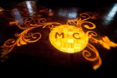 Lighting Featuring Custom Monogram Dance Floor