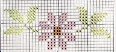 Tiny Cross Stitch, Cross Stitch For Kids, Cross Stitch Flowers, Cross Stitch Patterns, Knitting Patterns, Types Of Stitches, Charts And Graphs, Cross Stitching, Crochet Stitches