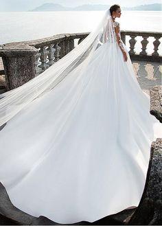 We Love: Milla Nova Bridal 2017 Wedding Dresses - *~ Fairytales ~* - Vestidos Big Wedding Dresses, Bridal Dresses, Bridesmaid Dresses, Tulle Dress, Lace Dress, Lace Bodice, Wedding Bride, 2017 Wedding, Gown Wedding
