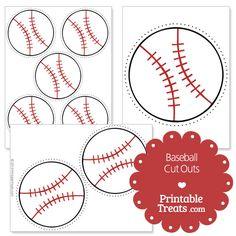Printable Baseball Cut Outs from PrintableTreats.com