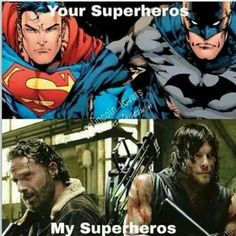 Can I have both? Especially if HENRY CAVILL is Superman! | Walking Dead Superheroes