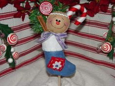 Gingerbread Christmas Stocking EPattern by simplysweetgifts, $5.99