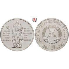 DDR, 10 Mark 1985, Befreiung, vz-st, J. 1603: Kupfer-Nickel-10 Mark 1985. Befreiung. J. 1603; vorzüglich-stempelfrisch 8,00€ #coins