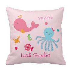 Pink Under the Sea Keepsake Pillow