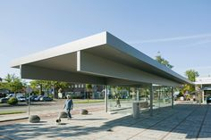 NL architects' transparent pavilion makes waiting for trains a more comfortable experience