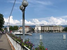 On the Promenade du Lac, stroll flower-lined paths and take in the view — including of The Ritz-Carlton Hotel de la Paix, Geneva across the water. Geneva Hotel, Lake Geneva, Carlton Hotel, Five Star Hotel, Cn Tower, Contemporary Style, Switzerland, Backdrops, Europe