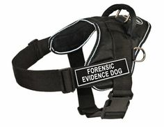 Dean  Tyler Fun Works Forensic Evidence Dog Harness Small Fits Girth Size 22Inch to 27Inch Black with Reflective Trim >>> Want additional info? Click on the image.