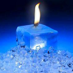 "Novelty ""Ice"" Pillar Candle"