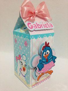 Linda Caixa Milk no tema Galinha pintadinha rosa para meninas. Pode ser personalizada para meninos  Ideal para lembrancinhas.  Produzida em papel matte 230g e apliques glossy 180gr