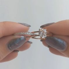 This engagement ring features a slot to slide in a wedding band rings for men Two in one ring Wedding Rings Sets His And Hers, Wedding Rings Simple, Wedding Rings Vintage, Diamond Wedding Rings, Unique Rings, Diamond Rings, Wedding Ring With Band, His And Hers Rings, Wedding Bands For Him