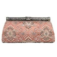 Moyna clutch with beaded and crystal embelishments