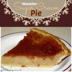 Hoosier Sugar Cream Pie Recipe - Indiana Cream Pie, Finger Pie, ( Shaker & Amish recipe)  |  whatscookingamerica.net  |  #hoosier #indiana #finger #amish #shaker #sugar #cream #pie