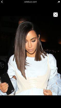 #kimkardashian #sleekhaircut #longbob #plunging #plungingbob #bob #carré #carrélong