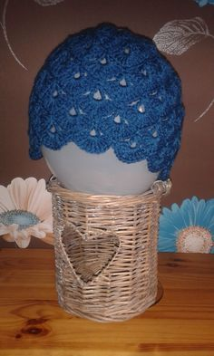 Shell edge hat by WaveSideCreations on Etsy