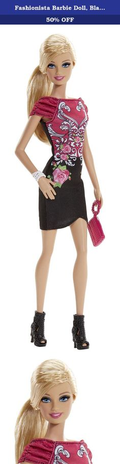 Fashionista Barbie Doll, Black and Pink Floral Dress. Barbie Fashionistas Doll Barbie has big plans for a fabulous summer: glam parties, garden parties and fun in the sun - sometimes all in one! Dressed in pretty party dresses and flowery and tropical prints, the Fashionistas dolls will be the blossoms of every ball! Girls will have closets of fashion fun creating perfect party outfits and vacation looks with this assortment of Fashionistas dolls, trendy fashions and glam accessories…