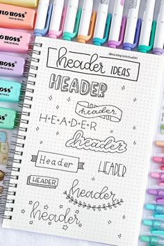 Best Bullet Journal Header & Title Ideas For 2019 The ul. - Doodle ideen Best Bullet Journal Header & Title Ideas For 2019 The ul. - Doodle ideen - Frame ideas for your bullet journal/study notes 📝 💕⁠ 📷 Doodle floral wreath vector collection Bullet Journal Headers, Bullet Journal Banner, Bullet Journal Notebook, Bullet Journal School, Bullet Journal Spread, Daily Journal, Bullet Journal Ideas Handwriting, Fitness Journal, Bullet Journal Layout