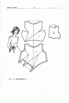 The best DIY projects & DIY ideas and tutorials: sewing, paper craft, DIY. DIY Women's Clothing : Chinese method of pattern making- Darts on a bodice - SSvetLanaV - Picasa Web Albümleri -Read Techniques Couture, Sewing Techniques, Pattern Cutting, Pattern Making, Dress Sewing Patterns, Clothing Patterns, Sewing Hacks, Sewing Tutorials, Sewing Projects