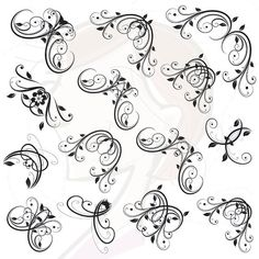 Clip Art Borders Corners Digital Clipart Ornate Photo Frame Vintage Scrapbook Borders Embellishment Calligraphy png INSTANT DOWNLOADS 10257