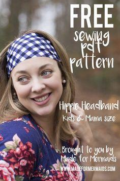 FREE pattern + tutorial - knit fabric headband - Made for Mermaids