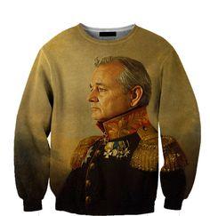 Bill Murray All Over Custom Sublimated sweatshirt Unisex Women and Men