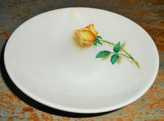 Vintage Bowls, Canonsburg, Yellow Rose, Temptation, Fruit Bowl, Simplicity, Small Bowls, Dessert Bowl, Sauce Bowl, Rose Bud, Set of Two by TheBackShak on Etsy