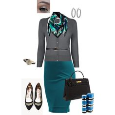 Working 9 to 5 by eliza-hart on Polyvore featuring L.K.Bennett, Doublju, Hermès, Vivienne Westwood, Asprey, Emilio Pucci, Yves Saint Laurent and Urban Decay