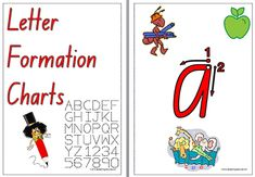 Charts show each letter with a starting point and a directional arrow to assist in the correct letter formation. Letter Practice Sheets, Name Writing Practice, Handwriting Practice Sheets, Handwriting Alphabet, Alphabet Cards, Alphabet Letters, Framed Letters, Letter Formation, Uppercase And Lowercase Letters