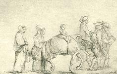 Chodowiecki, Ein Zug armer Reisender (Danziger Skizzen, 1773).