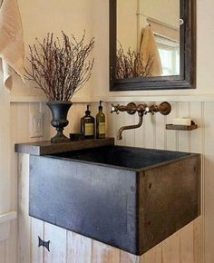 This sink would be perfect in a little garden shed.
