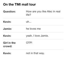 Haha Parabatai of Jamie Campbell Bower (to play Jace Wayland) and Kevin Zegers (to play Alec Lightwood) of The Mortal Instruments: City of Bones. Conversation on one of the Mall Tour Stops. Mortal Instruments Funny, Shadowhunters The Mortal Instruments, Alec Lightwood, Jace Wayland, Kevin Zegers, Shadowhunter Academy, Will Herondale, Cassie Clare, Cassandra Clare Books