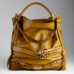 Burberry Large Bridle Leather Hobo Bag Mustard  I would really love to have this bag used so I can afford it. Even on eBay it's $900+