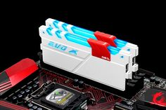 GeIL has released the new EVO X series of DDR4 RGB memory kits with customizable RGB lighting by GeIL's own HILM (Hybrid Independent Lighting Module). The memory comes in white or black color options with speeds of between 3000MHz and 3200MHz and kit sizes of between 2x4GB and 2x8GB.