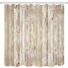Rustic Oak Abandoned Barn Door Shower Curtain Bathroom Curtains Liner 180CM Long