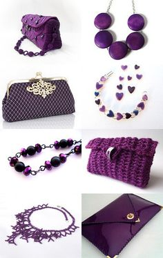 Accessories in Purple by PrtSkin http://www.etsy.com/shop/PrtSkin --Pinned with TreasuryPin.com