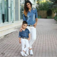 Mom and son outfits, family outfits, outfits niños, mommy and son, mom daug Mother Son Matching Outfits, Mom And Son Outfits, Family Outfits, Mode Outfits, Baby Boy Outfits, Fashion Kids, Baby Boy Fashion, Toddler Fashion, Fashion Art