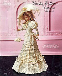 1895 por la tarde traje Crochet colector por grammysyarngarden