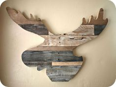 Reclaimed Wood Moose Head