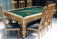 Combination Pool Table Dining Room Table - http://quickhomedesign.com/combination-pool-table-dining-room-table/?Pinterest