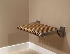 fold down teak shower seat...by MTI Baths